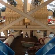 Drviče zabudované v linke na výrobu peliet zo slamy v Poľsku (Gdansk)