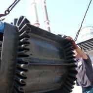 Montáž kazetového dopravného pásu do linky biomasy v elektrárni